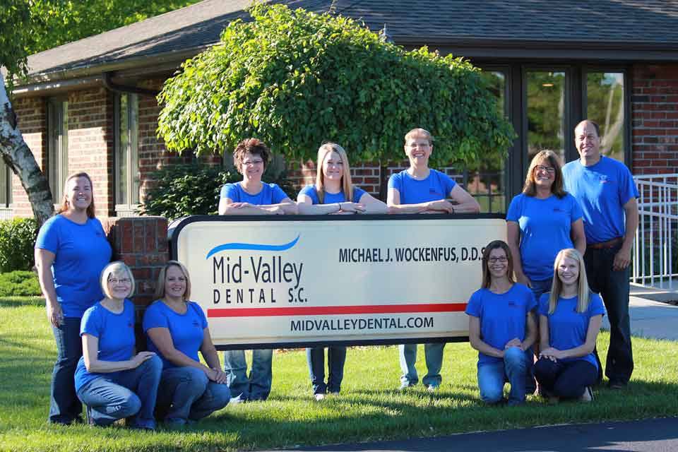 Mid Valley Dental, S.C. staff and Michael J. Wockenfus, DDS in Menasha, WI